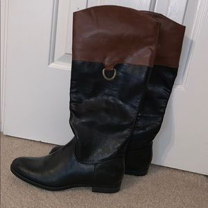 Shoes - Black brown Tall Riding Boots NEW